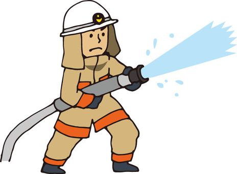 Firefighter (water discharge · beige)