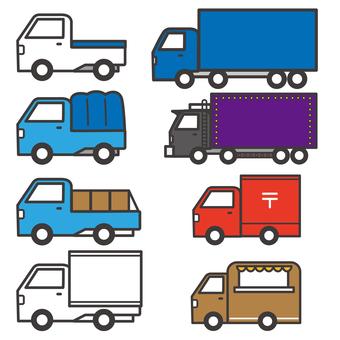 Various trucks
