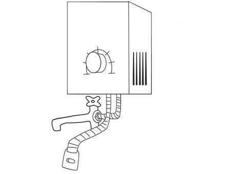 Water heater drawing