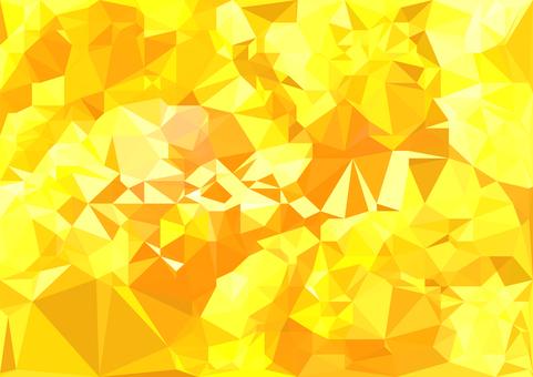 黄色のデジタルポリゴンベクター背景素材