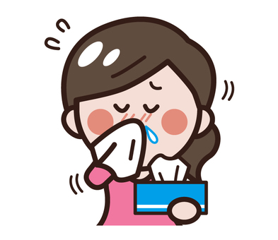 A woman biting a nose