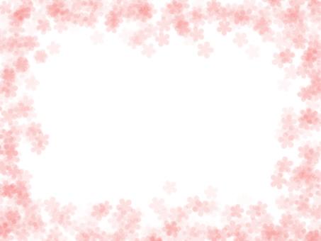 Fluffy flower frame pink