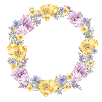Lease 6 - Spring Flower Wreath