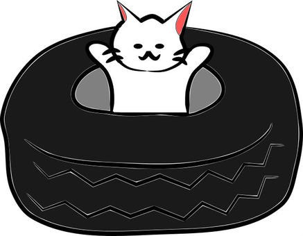 Tire with Nyanko