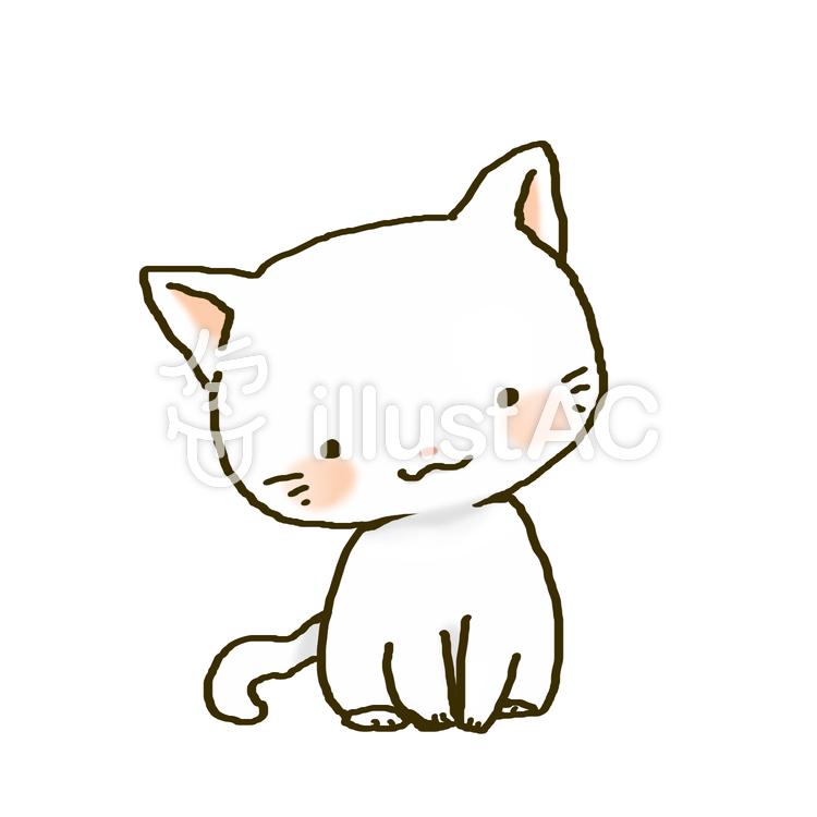 白い子猫イラスト No 875234無料イラストならイラストac