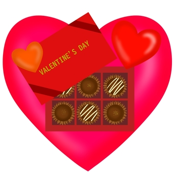 Heart and chocolate