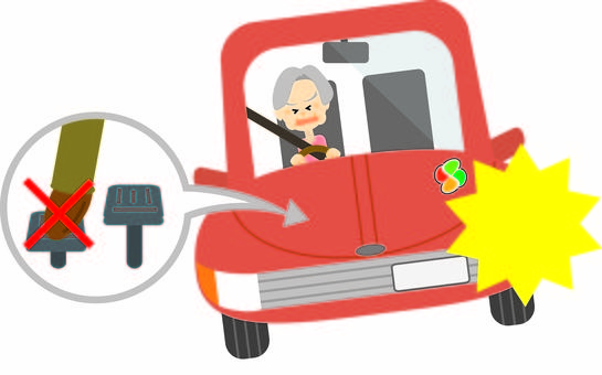 Elderly driver woman ☆ accelerator stepping mistake