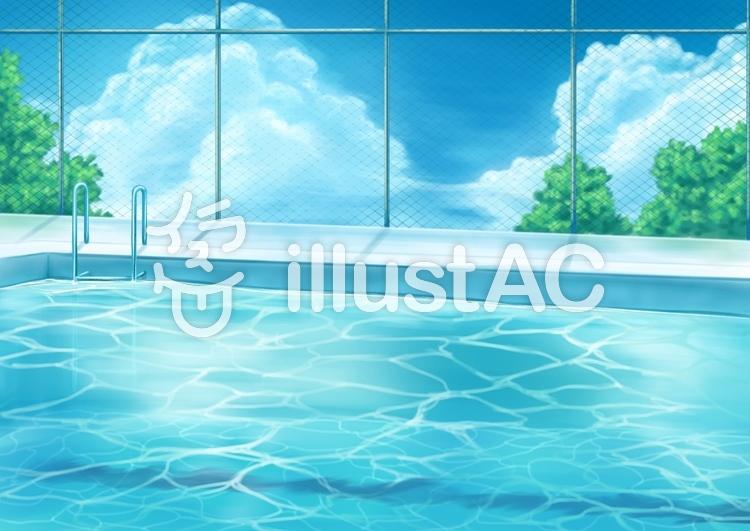プール背景