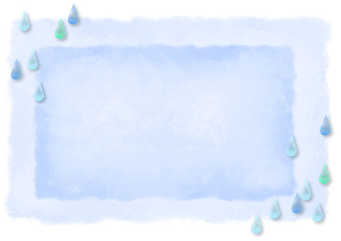 Watercolor-like dripping frame