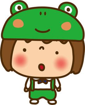 Girl frog costume