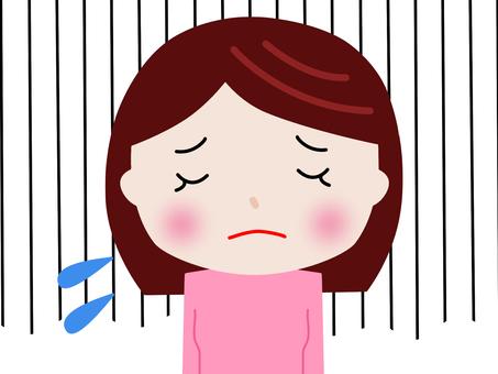 여자 슬픈 7