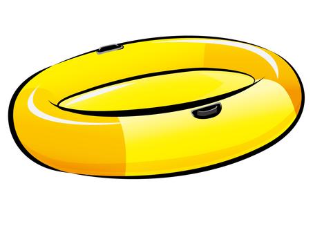 Vinyl boat (with edge)