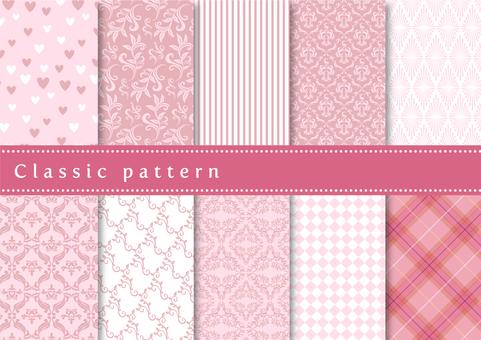 パターン素材052 クラシックパターン