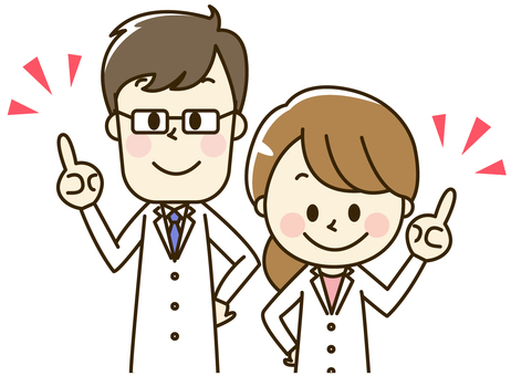 2-4-2 points for doctors of male and female white coats