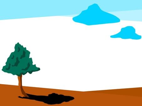 Tree and sky frame