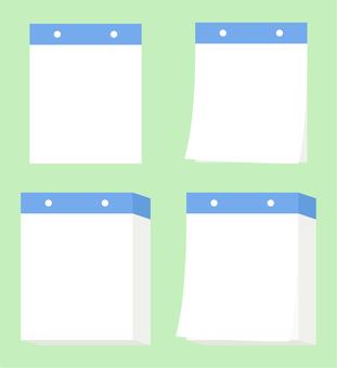 Nikkuri Calendar _ Blue