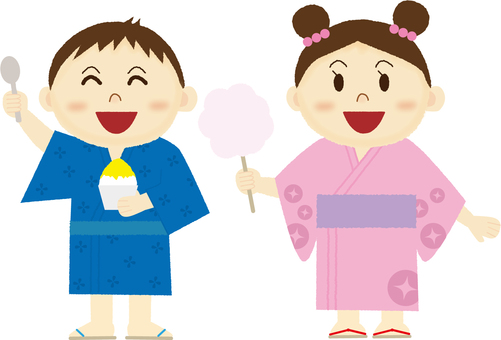 Yukata children