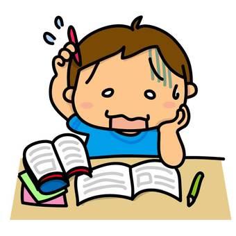 家庭作業,一個男孩的問題無法解決