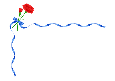 Red Carnation and Blue Ribbon