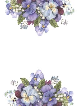 花框架205  - 三色堇裝飾框架,框架