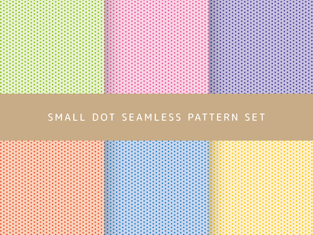 Dots seamless pattern set