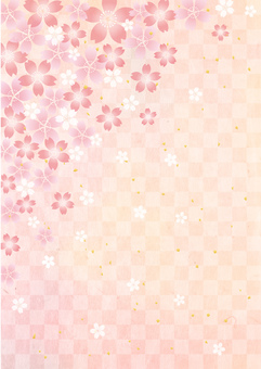 Sakura _ Washi _ grid _ longitudinal background