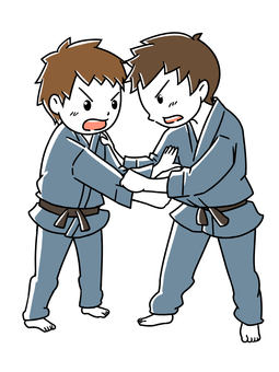 Children playing judo