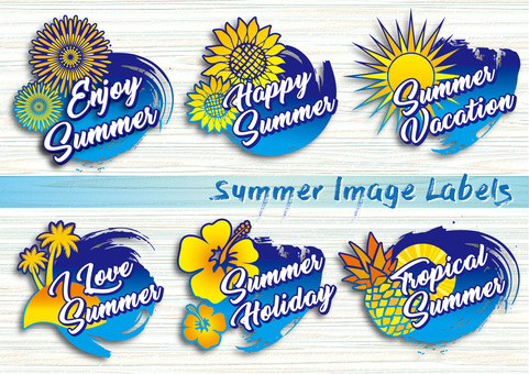 Summer image label