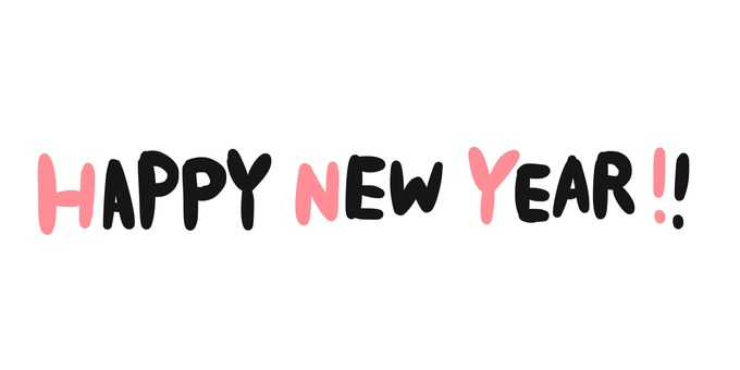 HAPPY NEW YEAR (Pink)