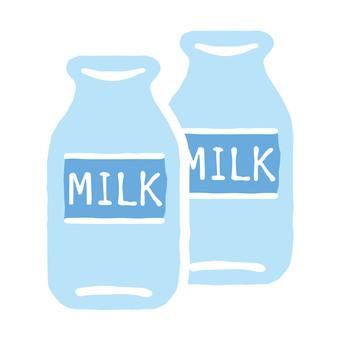 Milk bottle illustration