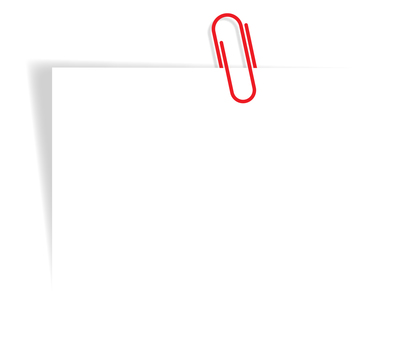 Paper closed with clip (red)