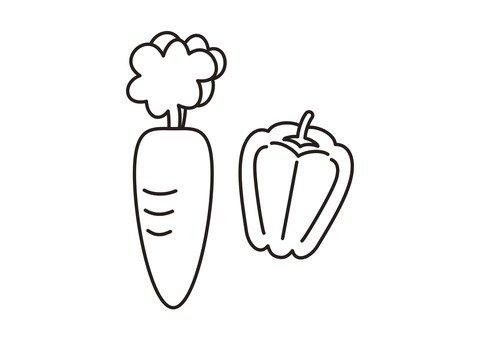 胡蘿蔔和青椒