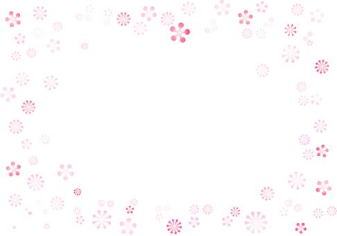 Pink floret frame