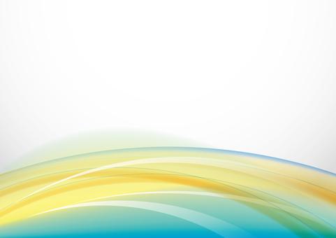 五顏六色的風 - 黃色和綠松石藍色