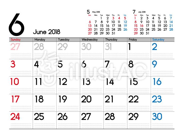 6月カレンダーイラスト No 無料イラストなら イラストac