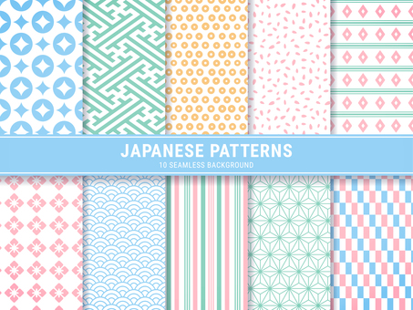 Japanese Pattern Pattern Color Seamless Pattern