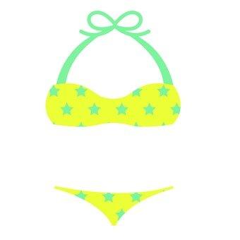 Star pattern swimsuit