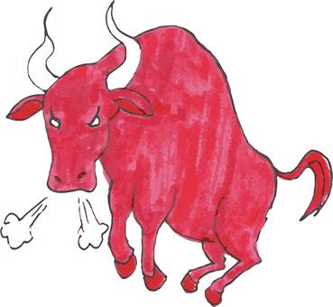 Red bullfighting