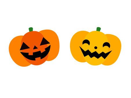 Illustration of a pumpkin ghost