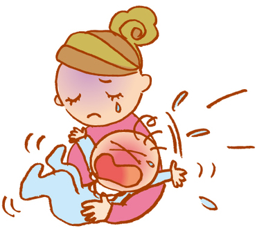 Baby with child rearing crying