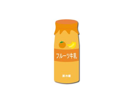 Illustration of fruit milk