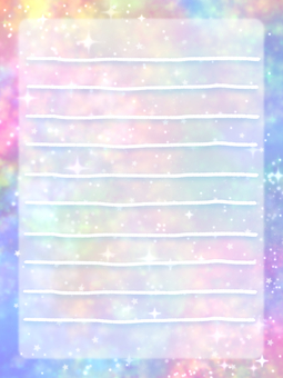 Space pattern letter paper