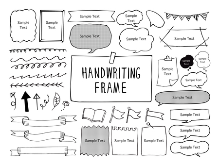 Handwriting frame material