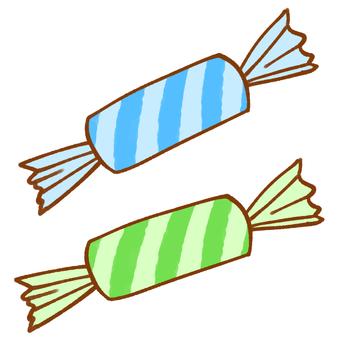 キャンディー(ストライプ/ブルー)