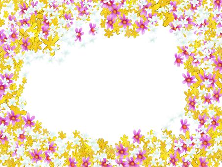 Mosaic full flower color frame