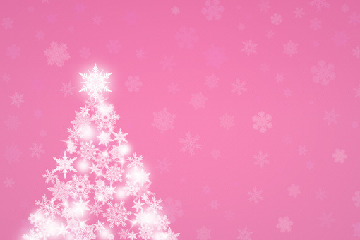 Pink Christmas tree background