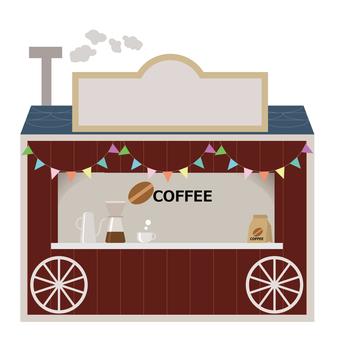 建物 店舗 屋台のコーヒーショップ