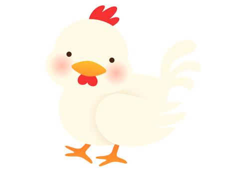 Illustration of a walking chicken