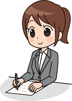 Female anime style | OL | Suit | Notes