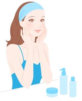 Skin care, women, woman